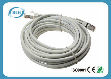 China Grey Cat5e STP Patch Cable 568B Wiring RJ45 Connectors Ethernet Network Cord distributor