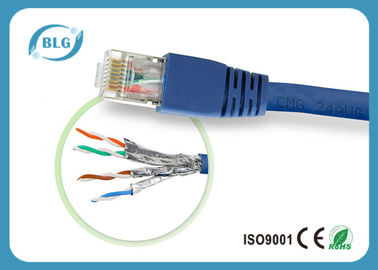 China Full Copper STP Patch Cable Cat7 Type Gold Plated RJ45 Male Plugs / Plug Boots distributor