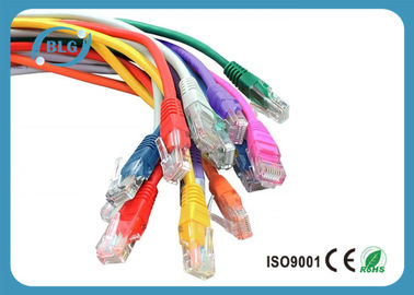 China Fluke Tested Lan UTP Patch Cord Cable Cat5e Full Copper Snagless Mold Injection Type distributor