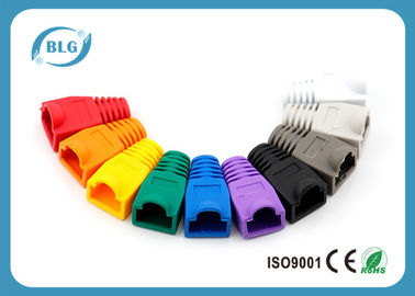 China RoHS Network Cable Accessories RJ45 Plug Boots for Cat5e 8P8C RJ45 Male Plugs distributor