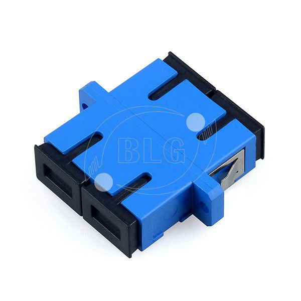 Blue Dulplex Fiber Optic Cable Accessories Adapter For FTTH Network System