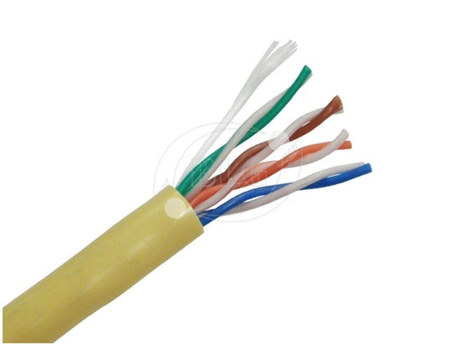 Telecommunication Cat5e Internet Cable Solid Stranded 24AWG 26AWG Full Copper